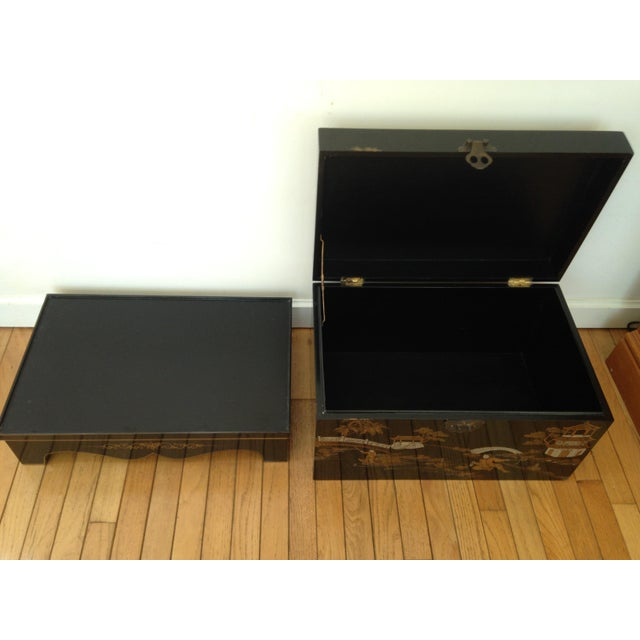 Vintage Chinese Laquered Chests - A Pair - Image 5 of 11