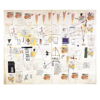 Jean-Michel Basquiat, Icarus Esso, Offset Lithograph, 2002 For Sale