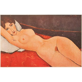 1947 Vintage Amedeo Modigliani Nu Au Coussin Blanc Lithograph For Sale