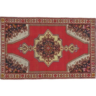 "Vintage Turkish Oushak Rug - 4'8"" X 7'1"""