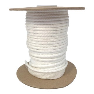 "Braided 1/4"" Indoor/Outdoor Cord in Bright White For Sale"