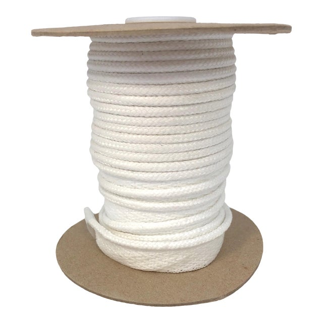 """Braided 1/4"""" Indoor/Outdoor Cord in Bright White For Sale"""