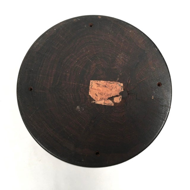 Brown Solid Rosewood Bowl or Vase For Sale - Image 8 of 9
