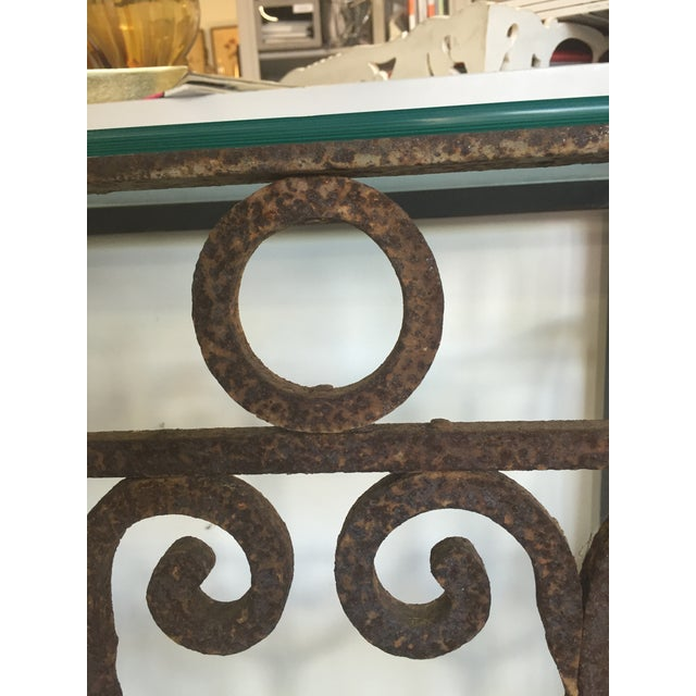 Hand Forged Vintage Iron Table For Sale - Image 4 of 4