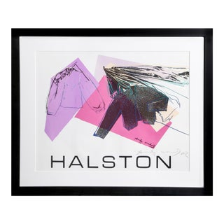 Halston Advertising Campaign: Women's Wear, signed by Warhol and Halston For Sale