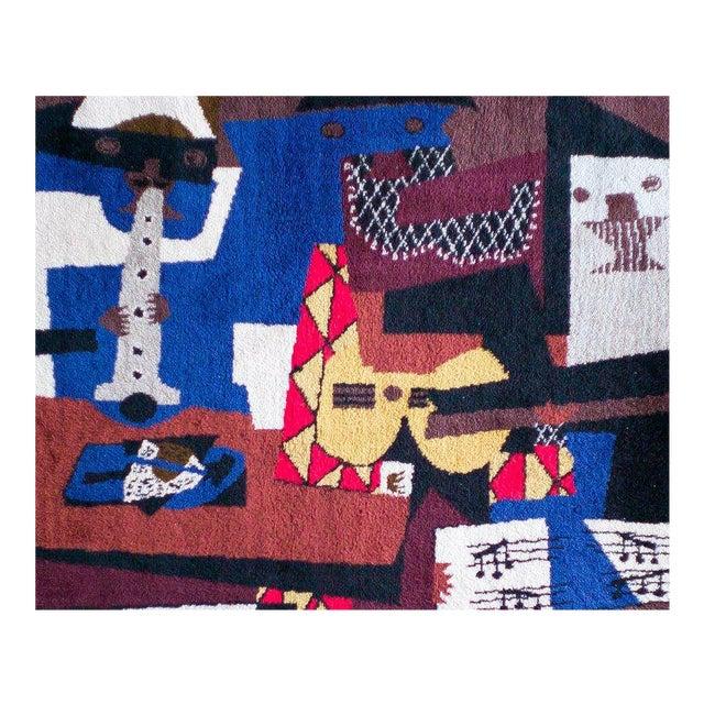 After Pablo Picasso Wool Carpet for Desk Studio For Sale