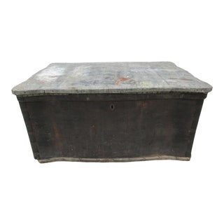 20th Century Rustic Wooden Carpenter's Trunk For Sale