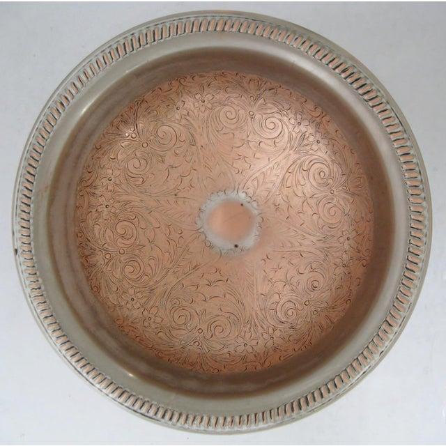 Silver & Copper Decorative Coupe For Sale - Image 4 of 7
