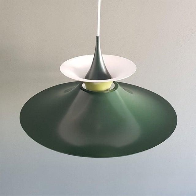 Green Danish Mid-Century Modern Radius 1 Pendant Lamp by Erik Balslev for Fog & Mørup For Sale - Image 8 of 11