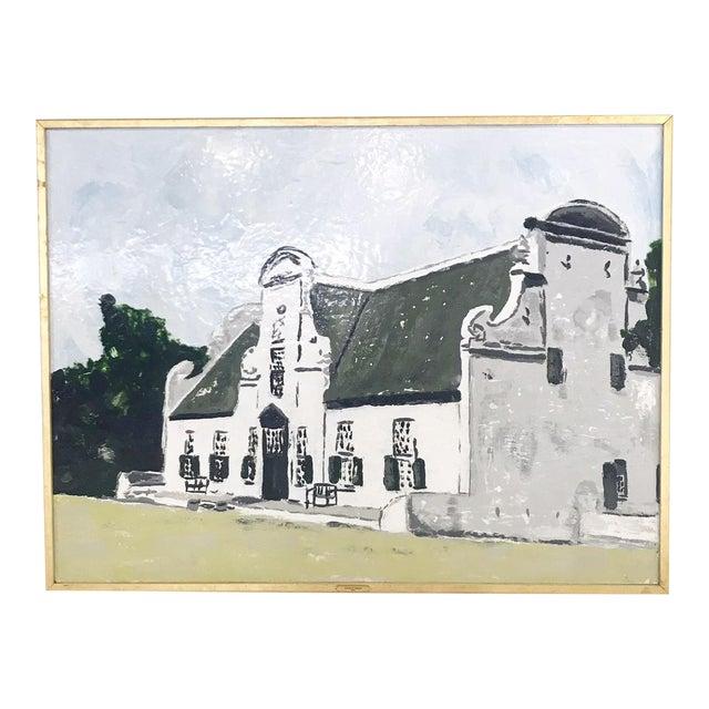 "John O'Hara. Cape Dutch. Encaustic Painting. 37.5x49.5"" For Sale"