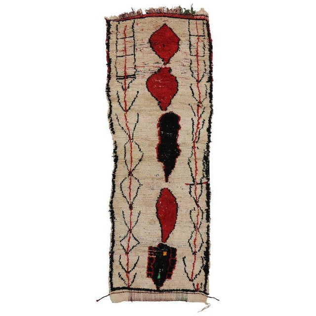 Berber Tribes of Morocco 20th Century Moroccan Berber Runner For Sale - Image 4 of 4