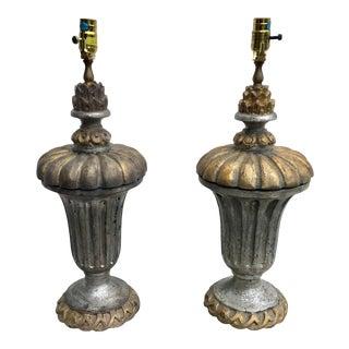 Vintage Chapman Gilt Wood Urn Lamps - a Pair For Sale