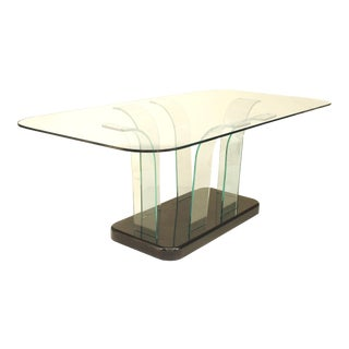 1940s American Art Moderne Glass Dining Table For Sale