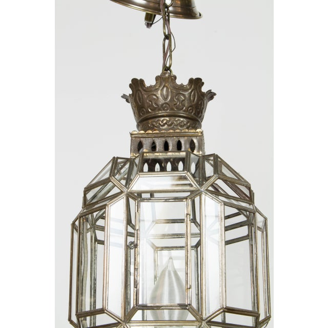 Gold Mexican Tin Lantern For Sale - Image 8 of 9