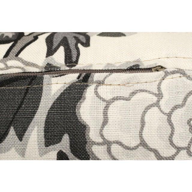 Scalamandre Long Lumbar Pillow in Scalamandré Chiang Mai Dragon 100% Linen For Sale - Image 4 of 5