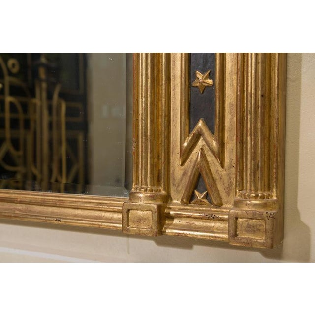 Pair of Regency Giltwood and Ebonized Wall Mirrors - Image 6 of 7