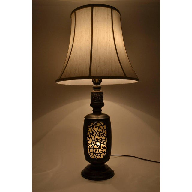 Bronze Antique Chinese Bronze Lantern Lamp For Sale - Image 7 of 7
