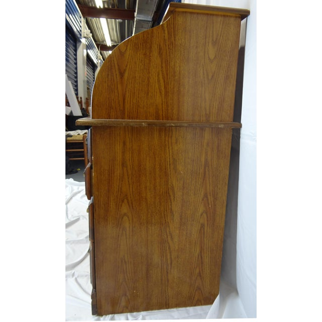 Art Deco Mid-Century Wooden Desk For Sale - Image 3 of 9