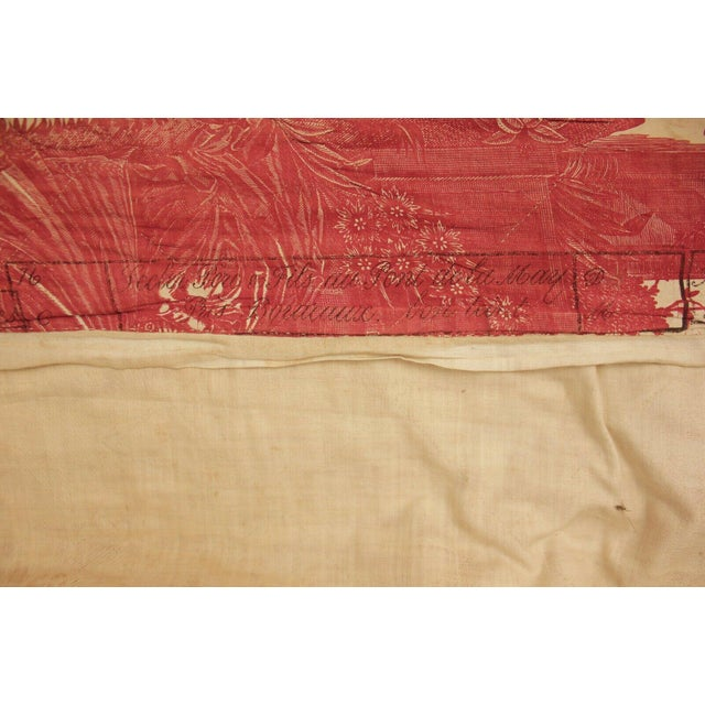 Textile Antique French Toile l'Art d'Aimer Chef De Piece Bordeaux Coverlet For Sale - Image 7 of 12