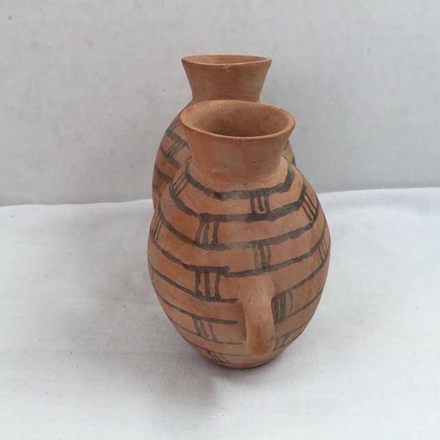 Vintage Egyptian Street Art Clay Vases Chairish