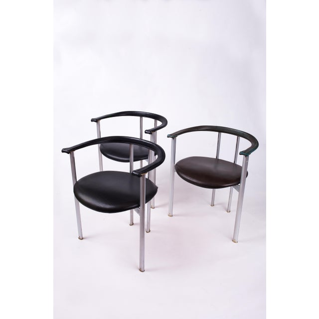 Animal Skin 1980s Mid-Century Modern B&b Italia Dining Chairs - Set of 3 For Sale - Image 7 of 7