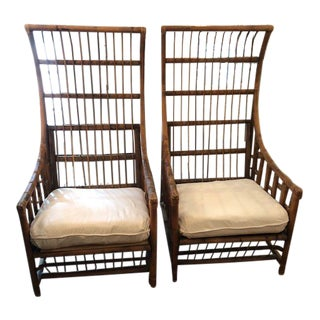 Vintage Italian Rattan Chairs - a Pair For Sale