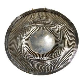 Vintage Silver Pierced Plate