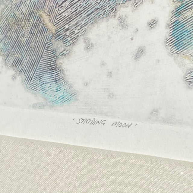 "1980s Robert Alan DeVoe ""Striding Moon"" Monoprint C.1987 For Sale - Image 5 of 12"