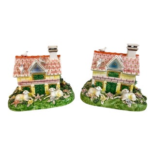 Italian Mottahedeh Cottages - A Pair