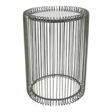 Image of Arteriors Industrial Silver Oren Side Table For Sale