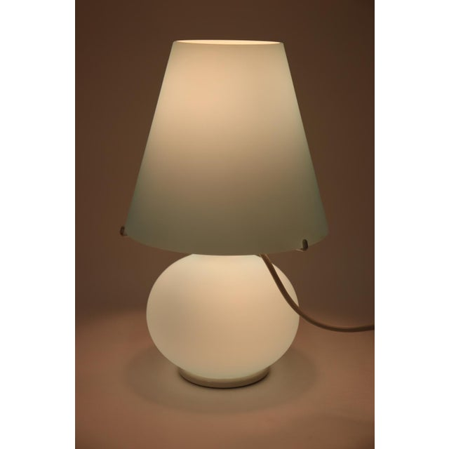 "Glass ""Paralume"" Murano Due Mid-Century Modern Glass Table Lamp For Sale - Image 7 of 13"