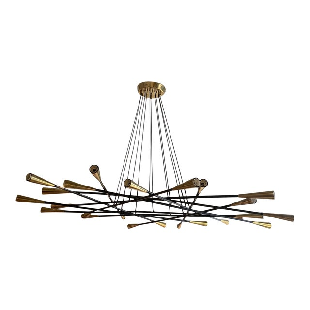 1960s Mid-Century Grand Scaled Twenty Four Light Chandelier, Italy For Sale