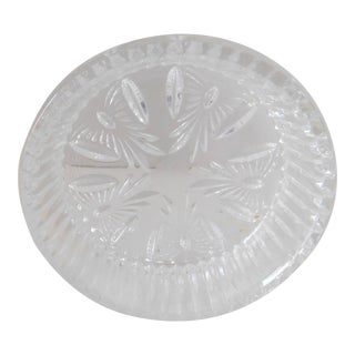 """1990s Waterford Crystal Wine Bottle Coaster/Holder - """"Best Wishes"""" For Sale"""