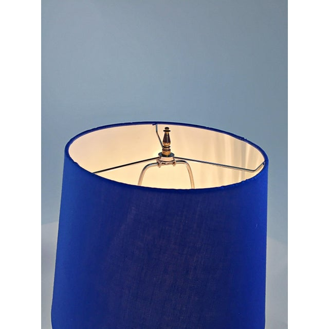 Table Lamp in Multiple Colors of Blue For Sale - Image 9 of 12