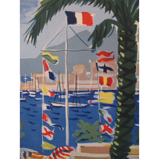 1949 Original French Riviera Travel Poster - Image 3 of 4