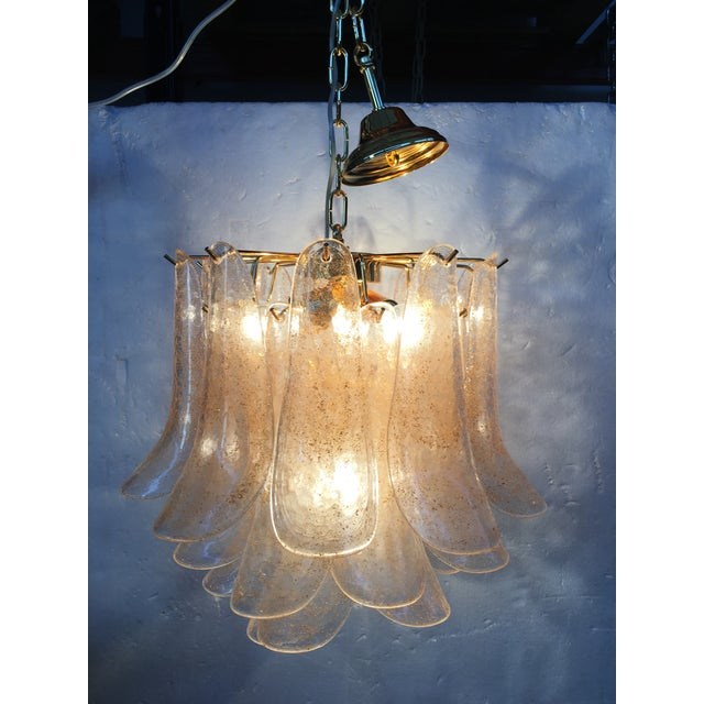Mid-Century Modern Venini Style Murano Glass Chandelier For Sale - Image 3 of 12