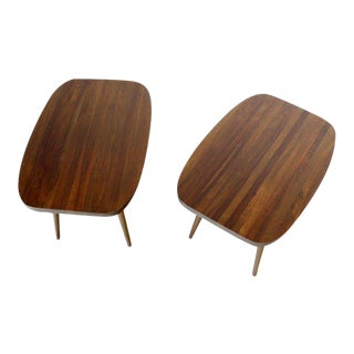 Mid-Century Modern Solid Walnut End Tables- a Pair For Sale