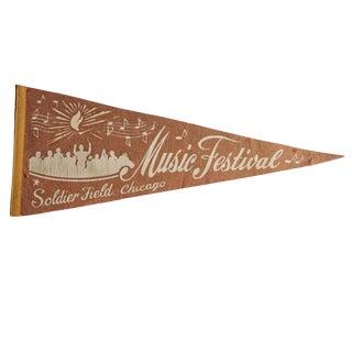Vintage Musical Festival Chicago Felt Flag Pennant