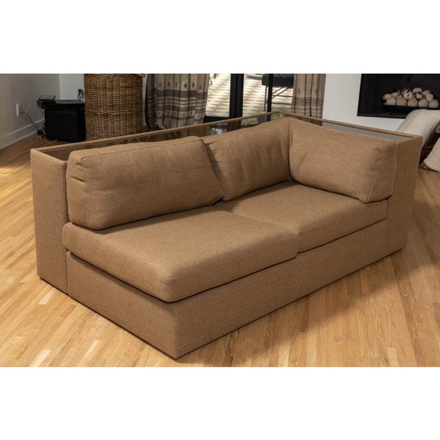 Mid-Century Modern Four-Piece Milo Baughman Sectional Sofa with Original Polymer Shelf Back For Sale - Image 3 of 12