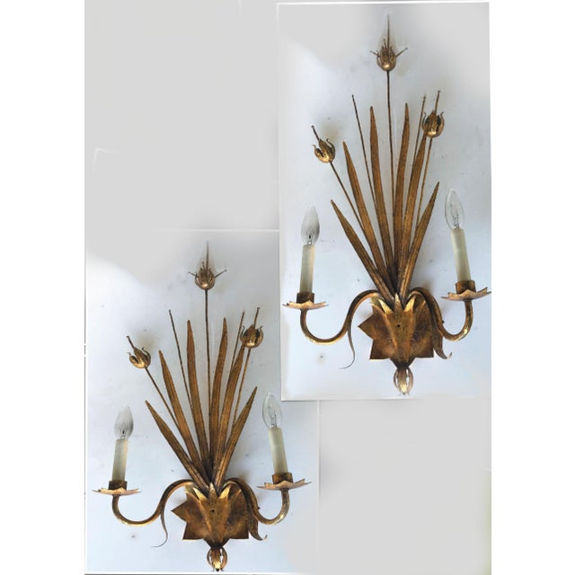 Vintage Spanish Ferrocolor Sconces - a Pair For Sale In Miami - Image 6 of 6