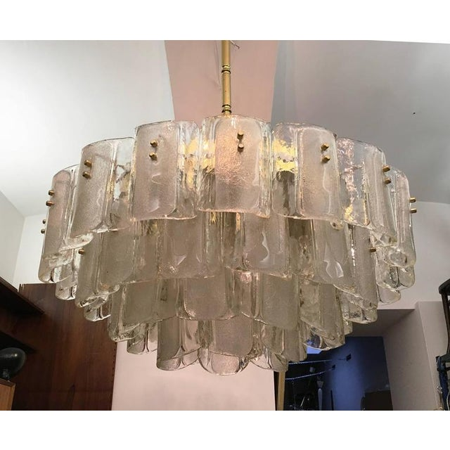 Large Crystal Glass Chandelier, 1960s For Sale - Image 10 of 11