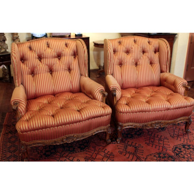 C. 1900 French Louis XV Bergere Chairs - a Pair For Sale In Raleigh - Image 6 of 10