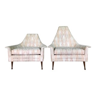 20th Century Mid Century Modern Attributed to Ben Seibel Model Deceiver His & Hers Lounge Chairs - a Pair For Sale