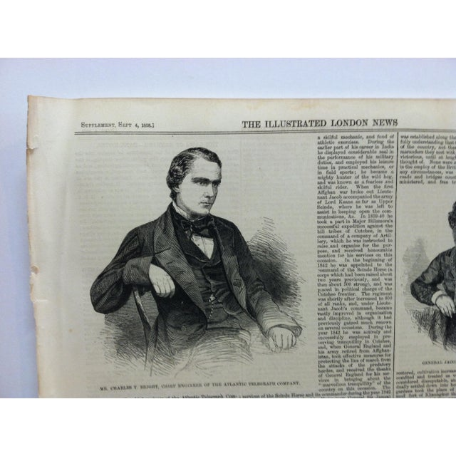 """1858 Antique """"Victoria - the Chief Town of Vancouver's Island"""" The Illustrated London News Print For Sale - Image 4 of 5"""