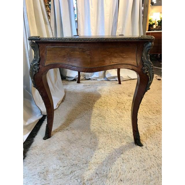 Louis XV Style Bureau Plat For Sale - Image 4 of 11