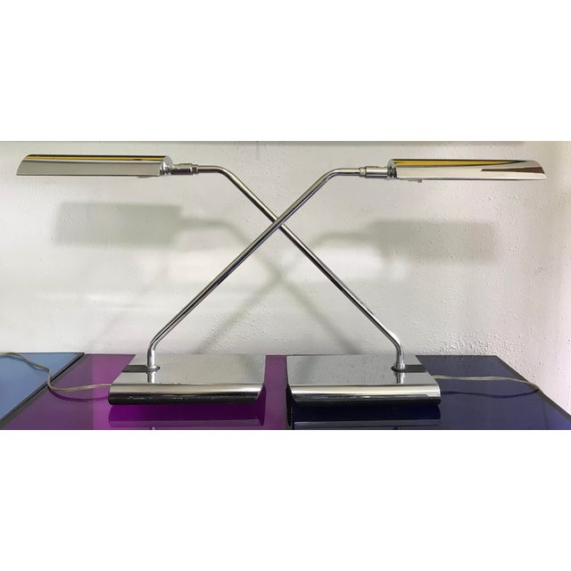 Koch & Lowy Articulating Chrome Desk Lamps, a Pair For Sale - Image 10 of 10