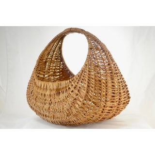 Hand Woven Oval Reed Basket Preview