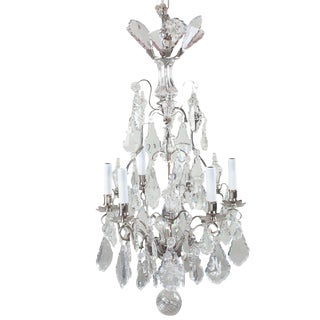 Antique 19th Century Large Baccarat Crystal Chandelier For Sale