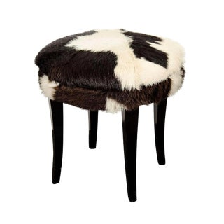 Mid-Century Cow Hide Stool For Sale