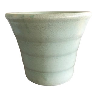 Mid Century Pale Aqua Teal Planter For Sale